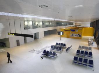 Imagen del aeropuerto de Ciudad Real, vacío de pasajeros.