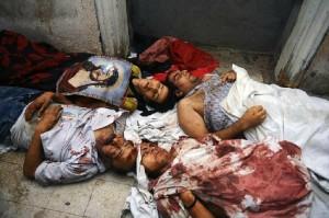 Cristianos coptos asesinados en Egipto.
