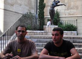 Edgar Fernández, a la derecha de la imagen.