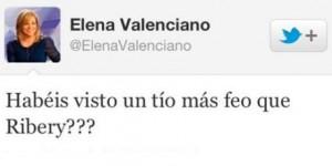 Captura del comentario de Elena Valenciano en Twitter.
