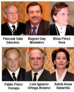 Estos son los magistrados que apoyaron la legalización de Sortu.