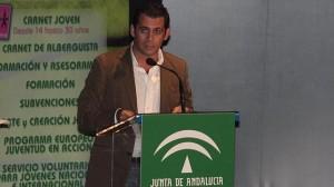 Raúl Perales, director del IAJ, durante un acto oficial