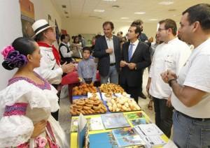 Salvador Victoria, durante su visita a una feria gastronómica latinoamericana.