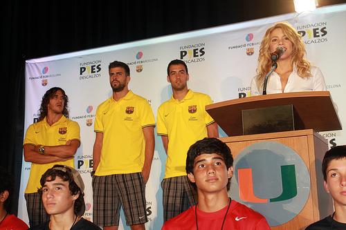 La colombiana Shakira estuvo vinculada a la Fundación Barça.