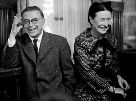 Simone de Beauvoir y Jean Paul Sartre.