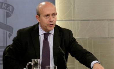 José Ignacio Wert, ministro de Educación, durante la rueda de prensa del Consejo de Ministros.