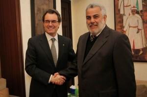Artur Mas y el presidente de Marruecos.