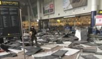 Así quedó el aeropuerto de Bruselas tras el atentado islamista