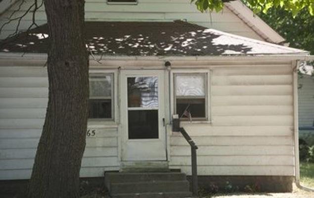 La casa donde Linda Chase retuvo durante dos años el cadáver de su amigo.