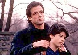 Sage Stallone, con su padre en 'Rocky'