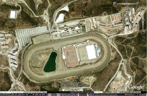 Vista aérea del hipódromo de la Costa del Sol.