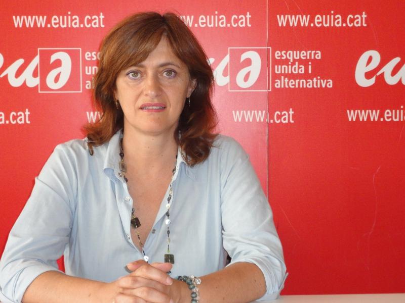 La portavoz del grupo municipal de EUiA, Marisol Martínez.