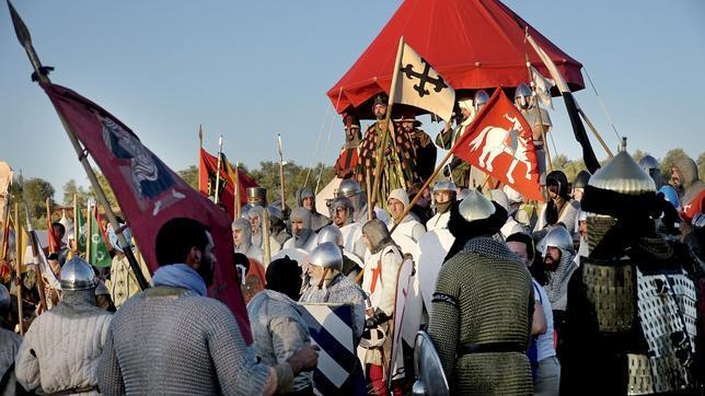 Recreación de la Batalla de las Navas de Tolosa, ayer en la localidad jienense del mismo nombre