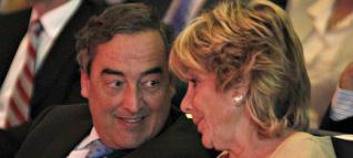 Rosell y Esperanza Aguirre.