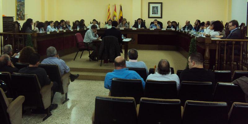 Salón de plenos del Ayuntamiento de San Adrián del Besós