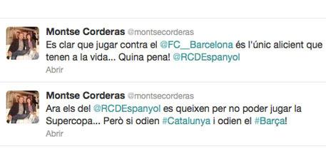 Tuits de Montse Corderas