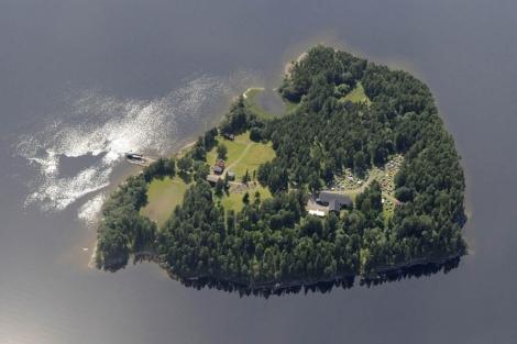 La isla de Utoya, escenario de la matanza.