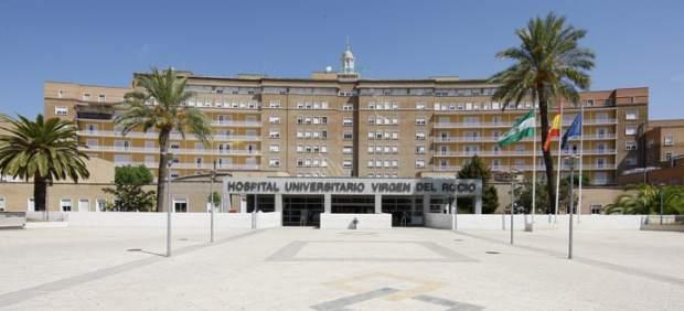 Fachada del hospital donde se hizo el reconocimiento a la víctima.