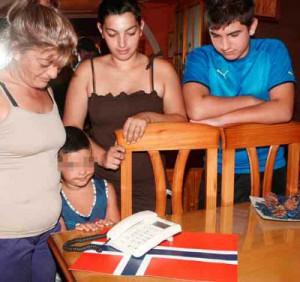 Uno de los niños españoles apadrinado por familias noruegas.