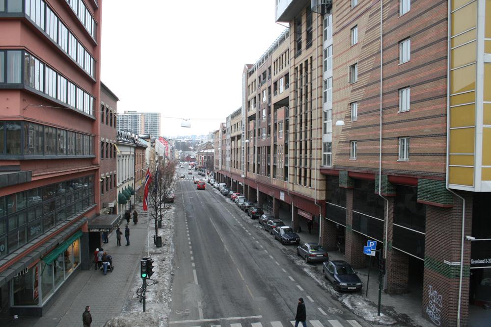 Calle del barrio de Grosland.