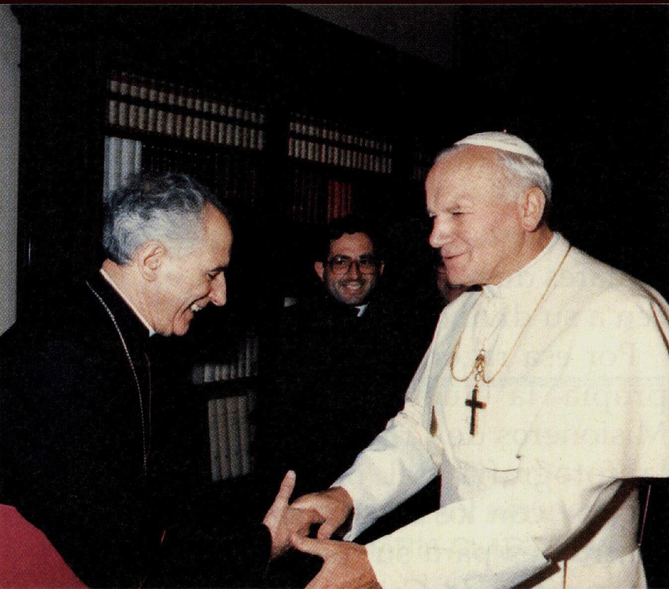 Guerra Campos recibido por Juan Pablo II.