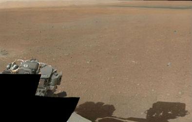 La primera foto en color del cráter de Gale.