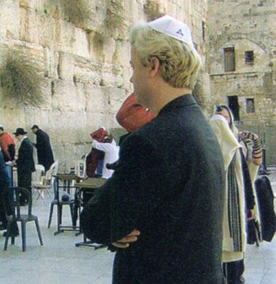 Wilders ante el muro de las lamentaciones.