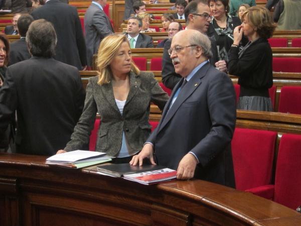 El consejero catalán de Economía, Andreu Mas-Colell, en Parlamento regional.