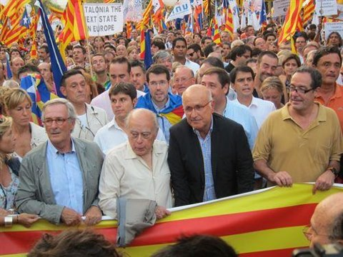Duran, en la manifestación del 11-S.