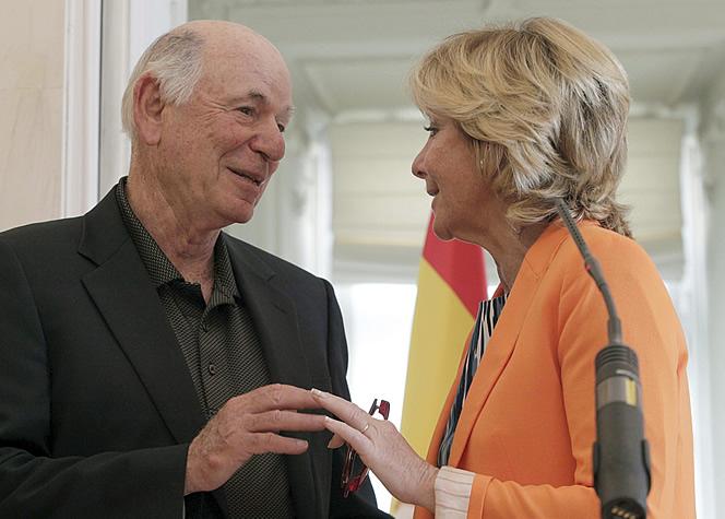 Esperanza Aguirre con Michael Leven, consejero de Las Vegas Sands.