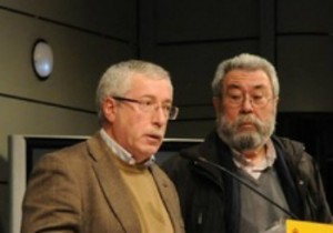 En la imagen, los líderes de CC.OO. y UGT, Ignacio Fernández Toxo y Cándido Méndez, respectivamente.