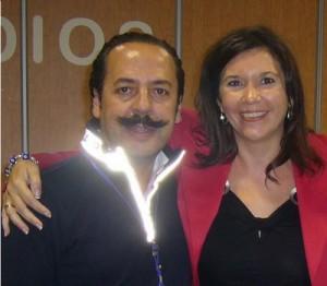 La alcaldesa de Elche y 'el bigotes'.