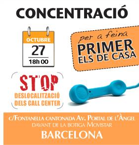 Cartel de la concentración convocada por PxC para el 27 de octubre.