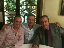 Robert Hernando (i), Josep Anglada (centro) y Armando Robles (d).