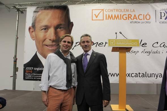 Joan Garriga (i), junto a Josep Anglada.