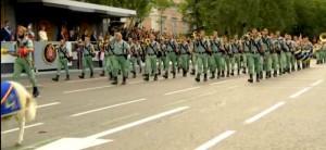 Legionarios desfilando por las calles de Madrid el pasado 12 de octubre.