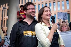 Los autores del vídeo, Albano Dante y Marta Sibina.