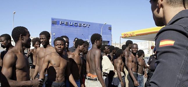 Negros ilegales en España.