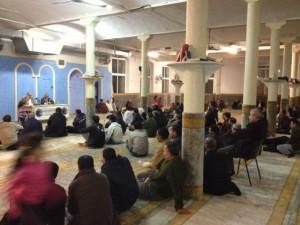 Colom explica la semana pasada, en la mezquita de Manresa, las ventajas de la independencia a los inmigrantes musulmanes.