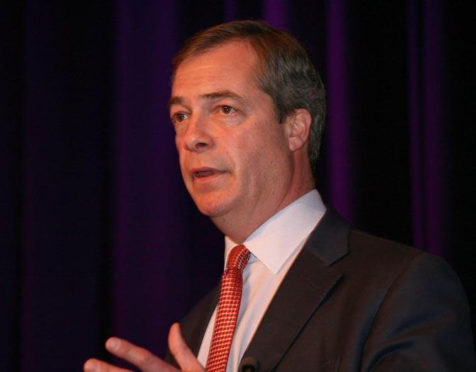 El líder del Partido de la Independencia del Reino Unido, Nigel Farage