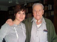 Blas Piñar y Laura Belenguer, autora de la entrevista.