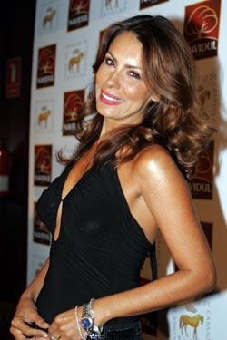 La modelo Jacqueline de la Vega, compañera sentimental de Cris Lozano.