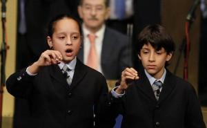 Sherley Fonseca e Ismael Rastrelli, los niños de San Ildefonso que han canatado el Gordo