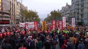 Huelga general 14N (Barcelona)