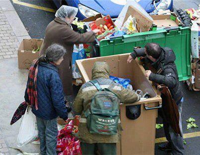 Pobreza y hambre en España.