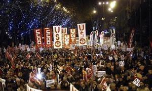Vista de la manifestación de Madrid.