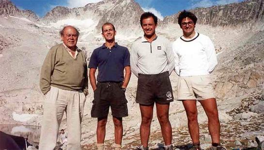 En la imagen, Jordi Pujol (izquierda) con sus hijos Pere, Jordi y Oriol.
