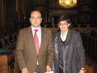 Enric Ravello, a la izquierda.