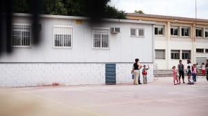 Aulas prefabricadas en un colegio de Málaga