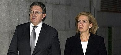 Carlos García Revenga y la Infanta Cristina.